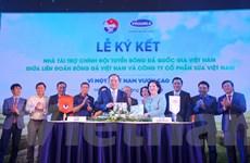 Vinamilk trở thành nhà tài trợ chính cho đội Tuyển Bóng đá Việt Nam