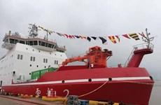 Bàn giao tàu phá băng đầu tiên tự chế tạo của Trung Quốc