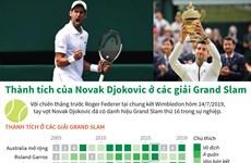 [Infographic] Thành tích của Novak Djokovic ở các giải Grand Slam