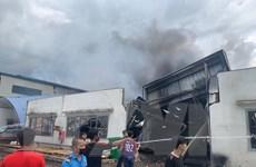 Bình Dương: Kịp thời khống chế vụ cháy lớn ở thị xã Tân Uyên