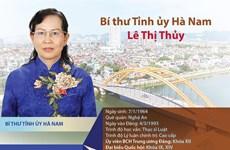 [Infographic] Chân dung tân Bí thư Tỉnh ủy Hà Nam Lê Thị Thủy