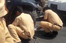 Bình Thuận: Tạm giữ hình sự lái xe chống người thi hành công vụ