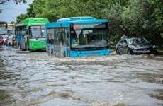 Cận cảnh 'thiên đường' ở Thủ đô ngập úng sau cơn mưa lớn do bão số 3