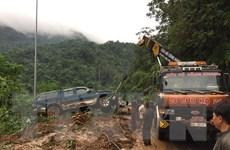 [Video] Sạt lở nghiêm trọng trên tuyến giao thông qua đèo Bảo Lộc