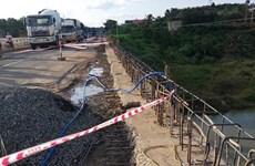 Lâm Đồng: 2 công nhân thương vong khi đang sửa chữa cầu Đại Ninh