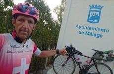 Một công dân Thụy Sĩ lập kỷ lục đạp xe qua 16 nước trong 6 ngày