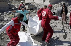 Hơn 100 người chết trong vụ liên quân không kích trúng nhà tù ở Yemen