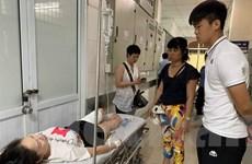 Hình ảnh nữ cổ động viên tại bệnh viện trước khi được phẫu thuật