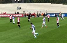 Video Văn Hậu cắt bóng đẳng cấp, khiến tuyển thủ Đan Mạch rời sân