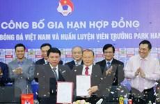 Toàn cảnh buổi lễ gia hạn hợp đồng giữa VFF và HLV Park Hang-seo