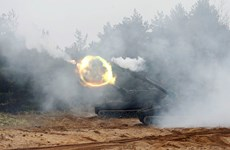 Gần 4.000 binh sỹ tham gia tập trận 'Sói sắt 2019-2' tại Litva