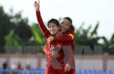 [Photo] Đội tuyển nữ Việt Nam chia điểm với Thái Lan ở trận ra quân