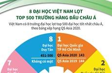 [Infographics] 8 đại học Việt Nam lọt top 500 trường hàng đầu châu Á