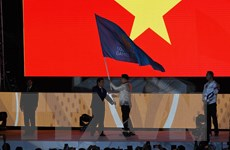 Video Việt Nam tiếp nhận cờ đăng cai SEA Games 31
