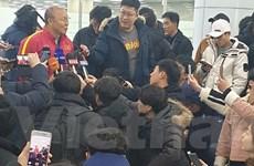 U23 Việt Nam đặt chân đến Hàn Quốc, 'luyện công' chờ U23 châu Á