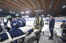 Ban tổ chức Olympic Tokyo 2020 diễn tập ứng phó với động đất
