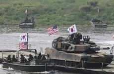 Số cuộc tập trận chung Mỹ-Hàn Quốc không giảm trong năm 2019