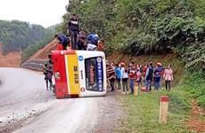 Thái Nguyên: Xe buýt đi ẩu gặp nạn trong ngày cuối dịp nghỉ Tết