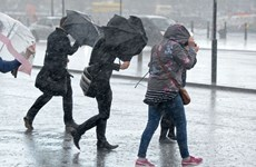 Giao thông gián đoạn tại nhiều nước ở châu Âu do bão Ciara