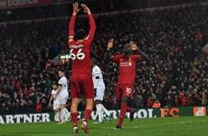 Liverpool chỉ còn cách ngôi vương Premier League 4 trận thắng