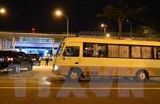 Hình ảnh đưa 20 hành khách Hàn quốc về nước trong đêm
