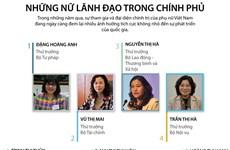 [Infographics] Chân dung những nữ lãnh đạo trong chính phủ