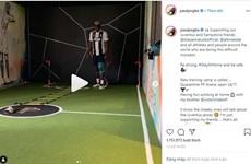 Paul Pogba mặc áo Juventus gửi thông điệp chống dịch COVID-19