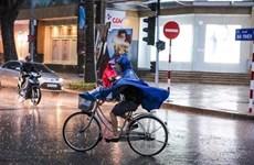 Đêm 3/4, không khí lạnh gây mưa diện rộng ở khu vực Bắc Bộ