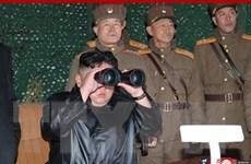 Nhà lãnh đạo Triều Tiên Kim Jong-un thị sát cuộc diễn tập súng cối