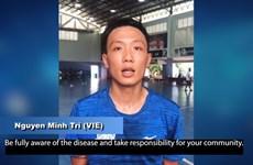 Tuyển thủ futsal Việt Nam tham gia chiến dịch chống COVID-19 của AFC