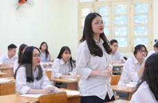[Photo] Học sinh không bắt buộc đeo khẩu trang trong lớp học