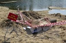 Quảng Ngãi: Phát hiện quả bom 500kg dưới sông Trà Khúc
