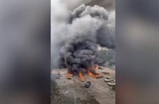 Hiện trường vụ nổ xe bồn khiến hơn 100 người thương vong ở Trung Quốc