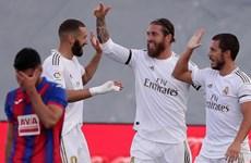 'Hạ gục nhanh' Eibar, Real Madrid thu hẹp khoảng cách với Barcelona
