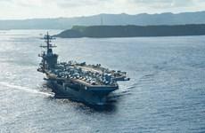 Quân đội Mỹ triển khai 2 tàu sân bay đến khu vực Hạm đội 7