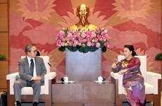 Chủ tịch Quốc hội Nguyễn Thị Kim Ngân tiếp Đại sứ Nhật Bản