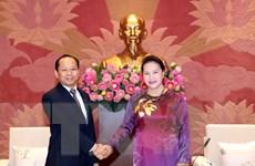 Chủ tịch Quốc hội tiếp Đại sứ Campuchia tới nhận nhiệm vụ