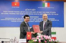 Thành lập Ủy ban hỗn hợp về hợp tác kinh tế Việt Nam-Italy