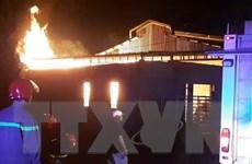 Bình Phước: Cháy nhà kho sản xuất nhang trầm, gây thiệt hại nặng nề
