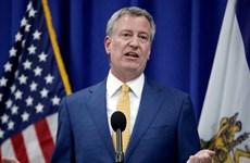 Mỹ: Thị trưởng New York Bill de Blasio dọa kiện Tổng thống Trump