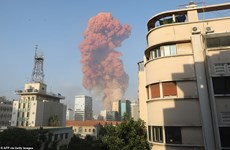 Khoảnh khắc cả thủ đô Beirut rung chuyển trong vụ nổ hóa chất