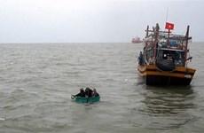 Hai tàu cá gặp nạn trên vùng biển Quảng Nam do thời tiết xấu