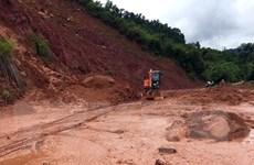 Sơn La: Nhiều tuyến đường bị sạt lở do ảnh hưởng mưa kéo dài