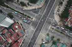 Chiêm ngưỡng cây cầu vượt lớn nhất Hà Nội vừa được thông xe