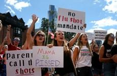 Mỹ: Biểu tình ở Boston phản đối quy định tiêm vắcxin ngừa cúm bắt buộc