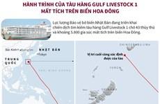 [Infographics] Hành trình của tàu hàng Gulf Livestock 1 mất tích