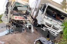 Gia Lai: Va chạm giữa hai xe tải khiến hai người thương vong