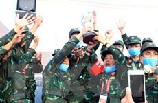 Việt Nam giành Cúp luân lưu Tank Biathlon tại Army Games 2020
