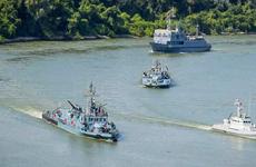 Lực lượng hải quân Ukraine và Romania tập trận Riverine 2020