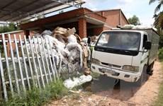 Tây Ninh: Bắt quả tang doanh nghiệp đổ chất thải không đúng quy định